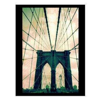 Cartão Postal linhas da ponte de Brooklyn