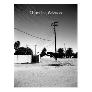 Cartão Postal Linhas de alta tensão de Chandler AZ