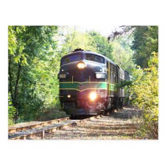 Cartão Postal Linhas de estrada de ferro locomotiva diesel da