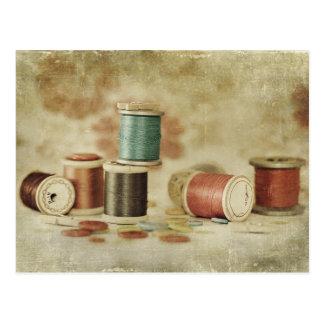 Cartão Postal linhas e botões