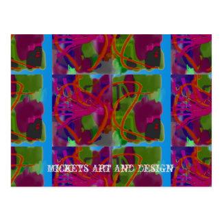 Cartão Postal Linhas e curvas pela arte e pelo design de Mickeys