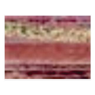 Cartão Postal linhas vermelhas tan da rocha