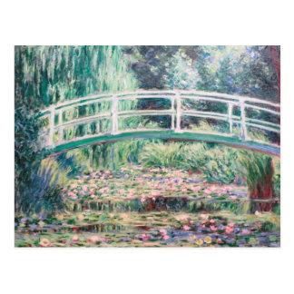 Cartão Postal Lírios de água branca   Monet