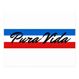 Cartão Postal Listra da bandeira de Costa Rica Pura Vida