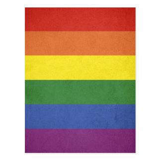 Cartão Postal Listras do arco-íris