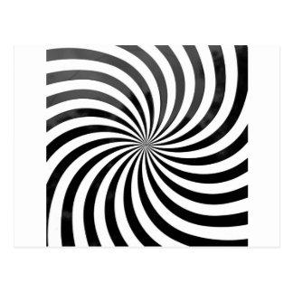 Cartão Postal listras pretas & brancas da decepção óptica