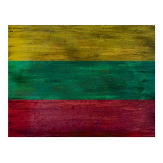 Cartão Postal Lithuania afligiu a bandeira lituana