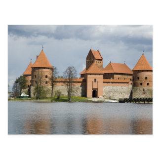 Cartão Postal Lithuania, Trakai. Castelo 2 da ilha