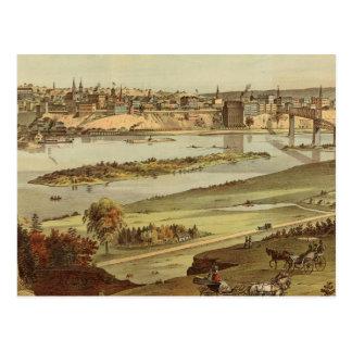 Cartão Postal Litografia 2 de St Paul, Minnesota