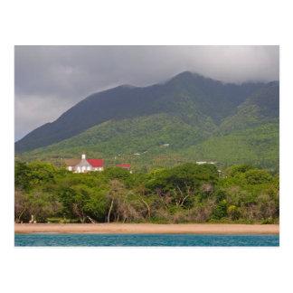 Cartão Postal Litoral da ilha das Caraíbas do mar