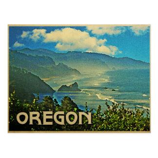 Cartão Postal Litoral de Oregon do vintage