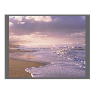 Cartão Postal Litoral fácil Oceano Atlântico das ondas