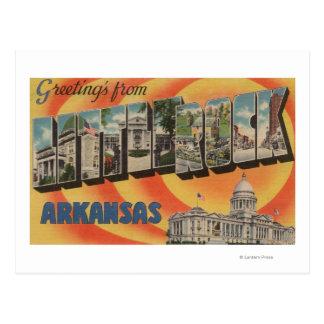 Cartão Postal Little Rock, Arkansas - grandes cenas da letra