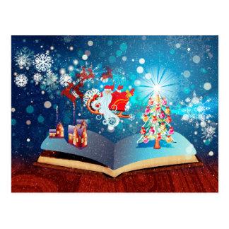 Cartão Postal Livro da mágica do Natal