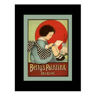 Cartão Postal Livro da pintura de Bettys