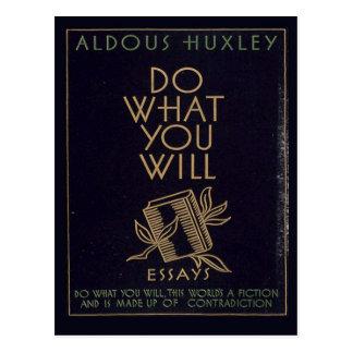 Cartão Postal Livro de Aldous Huxley