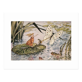 Cartão Postal Livro de histórias Thumbelina do vintage
