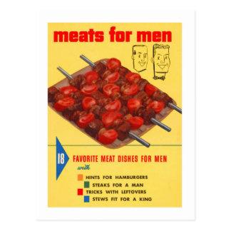 Cartão Postal Livro do cozinheiro dos homens da comida do