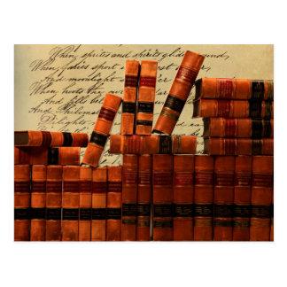 Cartão Postal Livros de couro antigos
