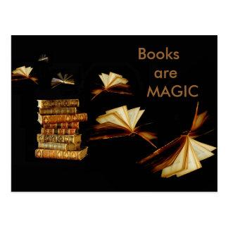 Cartão Postal Livros mágicos