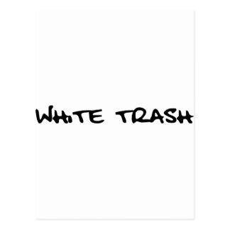 Cartão Postal Lixo branco