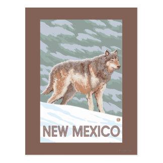 Cartão Postal Lobo cinzento StandingNew México