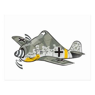 Cartão Postal lobo do focke fw-190