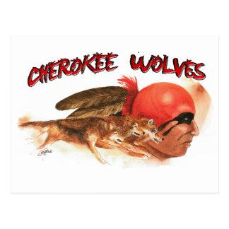 Cartão Postal Lobos Cherokee
