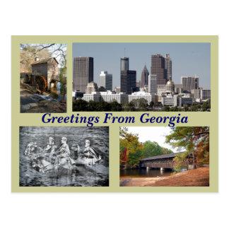 Cartão Postal Locais turísticos Geórgia