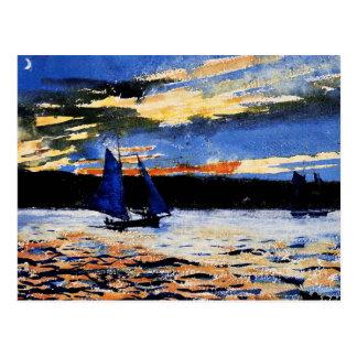 Cartão Postal Local - por do sol de Gloucester