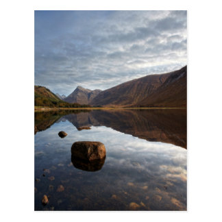 Cartão Postal Loch Etive. Glencoe nas montanhas escocesas