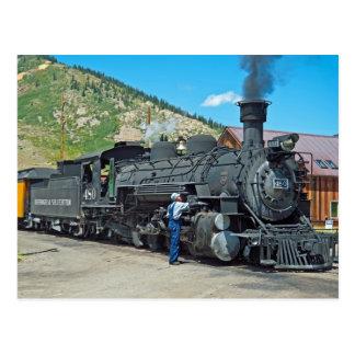 Cartão Postal Locomotiva de vapor 480 de Durango & de Silverton