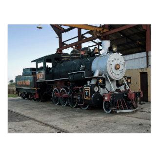 Cartão Postal Locomotiva de vapor, Cuba