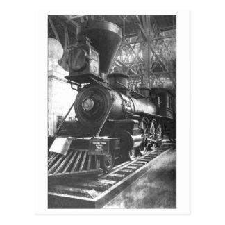 Cartão Postal Locomotiva de vapor da estrada de ferro de