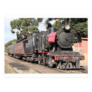 Cartão Postal Locomotiva de vapor de Goldfields, Victoria,