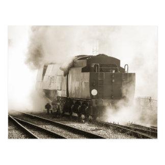 Cartão Postal Locomotiva de vapor do vintage