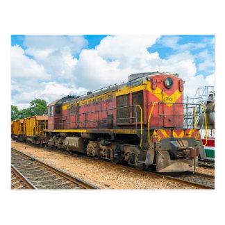 Cartão Postal Locomotiva diesel de Cuba, russo construído