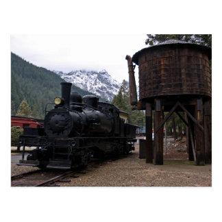 Cartão Postal Locomotiva e torre de Shay