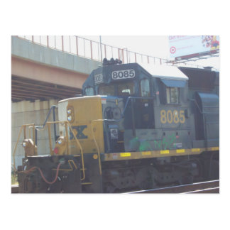 Cartão Postal Locomotiva estacionada