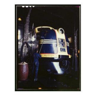 Cartão Postal Locomotiva que lava 1939