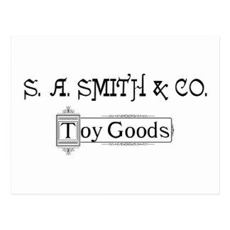 Cartão Postal Logotipo 1888 dos bens do brinquedo de S A. Smith