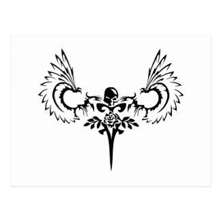 Cartão Postal Logotipo caído do estúdio do design do anjo