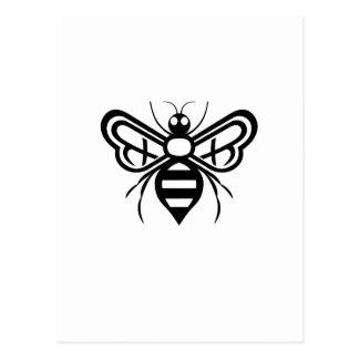 Cartão Postal Logotipo da abelha dos acres de Riley