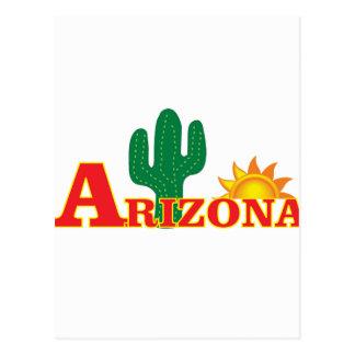 Cartão Postal Logotipo da arizona simples