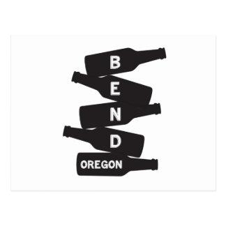 Cartão Postal Logotipo da pilha da garrafa de cerveja de Oregon
