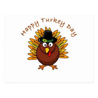 Cartão Postal Logotipo de Turquia do dia de acção de graças do