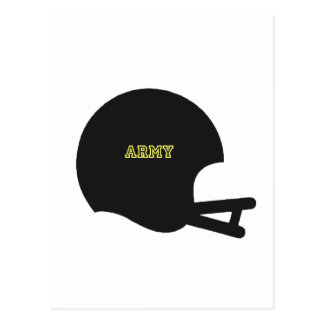 Cartão Postal Logotipo do capacete de futebol do vintage dos