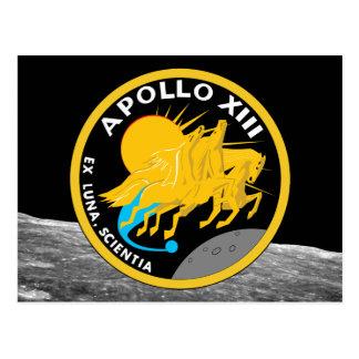 Cartão Postal Logotipo do remendo da missão da NASA de Apollo 13