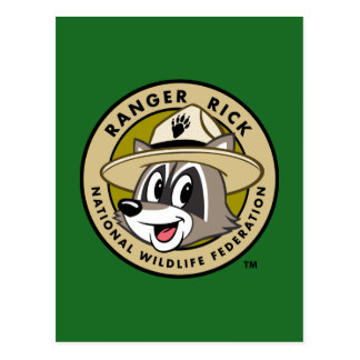 Cartão Postal Logotipo do rick da guarda florestal do rick | da