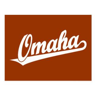 Cartão Postal Logotipo do roteiro de Omaha no branco